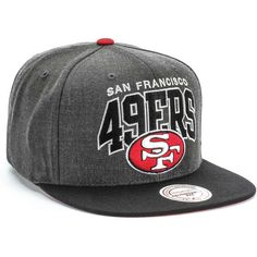 Mitchell and Ness San Francisco 49ers Throwback Arch G2 Hat Cap (Red)