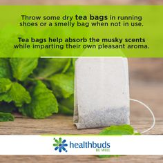 Use tea bags as a simple homemade DIY shoe deodorizer. #Healthbuds