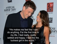A Timeline Of Cory Monteith And Lea Michele's Relationship   so sad to hear about his passing, may God bless him and his family and friends