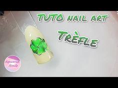 Nail art trèfle | TUTO - YouTube Aquarium Nails, Instagram