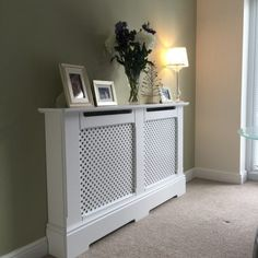 Made to measure radiator cabinet Interior Design Living Room, Living Room Designs, Modern Radiator Cover, Decorating Stairway Walls, Home Radiators, Traditional Radiators, Mdf Cabinets, Hallway Inspiration, Entry Way Design