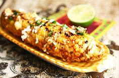 This recipe adds the extra zing of Mexican flavors and the smokiness of the grill to kick corn up to a whole new level. Corn Recipes, Side Recipes, Great Recipes, Favorite Recipes, Vegetable Dishes, Vegetable Recipes, Mexican Grilled Corn, Mexican Corn, Healthy Cooking