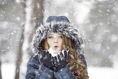 Winter, Rothaarige, Weiblich, Porträt