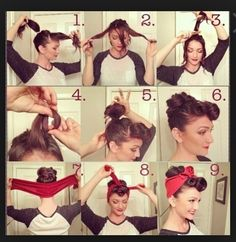 Extremely Easy Pin Up Hair