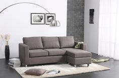 Sectional Couches For Small Apartments Small Space Sectional, Couches For Small Spaces, Corner Sectional Sofa, Sofa Couch, Small Sofa, Couch Furniture, Small Living Rooms, Living Room Sofa, Sofa Set