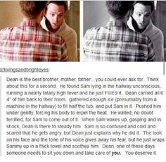 Reason to love Dean Winchester.