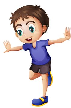 Boy standing on 1 foot- clip art Cartoon Drawings Of People, Cartoon People, Yoga For Kids, Art For Kids, Owl Clip Art, Therapy Activities, Play Therapy, Speech Therapy, Sports Clips