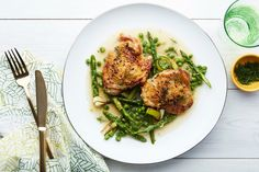 Easy Roast Chicken With Asparagus And Leeks Recipe — Dishmaps
