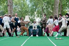 Britain's most gentlemanly sporting event featured the cucumber sandwich discus – and some fine facial hair Britain, Gentleman, Mens Fashion, Costumes, London, Places, Sports, Ideas, Woodwind Instrument