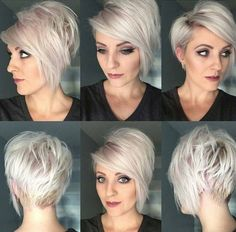 Layered Short Haircut rundes gesicht, 35 Best Layered Short Haircuts for Round Face 2018 - Love this Hair Short Hair Cuts For Round Faces, Round Face Haircuts, Short Hair With Layers, Hairstyles For Round Faces, Bob Hairstyles, Short Haircuts, Trendy Hairstyles, Short Cuts, Blonde Short Hair Cuts