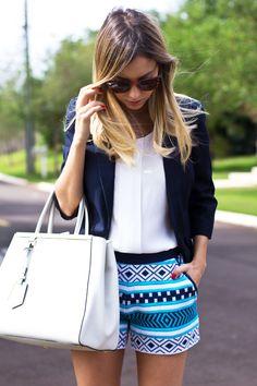 Look – Shorts Étnico