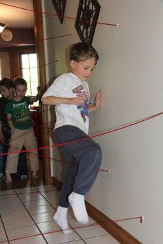 "Body awareness:  ""Laser maze"" for superheroes"