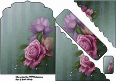shaped roses bookmark card on Craftsuprint designed by Cynthia Berridge - shaped roses bookmark card - Now available for download!