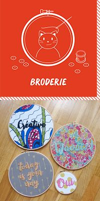 Learn how to do embroidery Learn Embroidery, Modern Embroidery, Embroidery Hoop Art, Embroidery Techniques, Diy Tutorial, Creations, Stitch, Learning, Bead Weaving