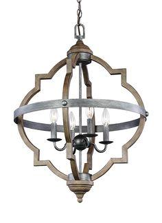 Quatrefoil 4 Light Chandelier