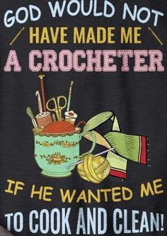 Crochet Flower Patterns, Crochet Flowers, Crotchet, Crochet Yarn, Crochet Humor, Sign I, Crochet Projects, Funny Things, Laughing
