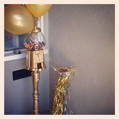 Golden Birthday. Gold Gumball Machine