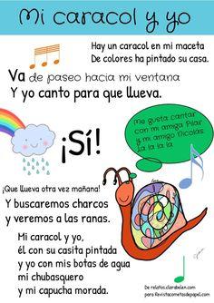Poesía infantil a partir de los 6 años.  #relato #textoinfantil #niños #infantil #primaria #caracol #poesia Peanuts Comics, Texts, Snails