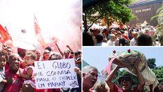 Incitadora do golpe, Globo recebe a ira do povo