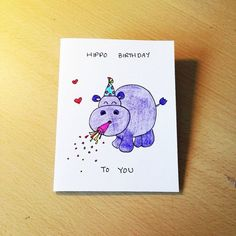 Bilderesultat for birthday card drawing ideas