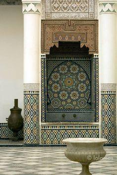 Mosaics Marrakesh Moroccan Islamic decor Mosaic tile by BCNphoto Moroccan Wall Art, Moroccan Design, Moroccan Style, Islamic Decor, Islamic Wall Art, Islamic Gifts, Arabian Decor, Mosaic Tile Art, Moroccan Interiors