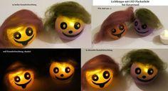 Lichtköppe - Auswahl- LED lustig,gemütlich von ღKreawusel-Designღ auf DaWanda.com