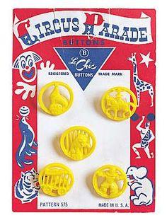 circus parade buttons