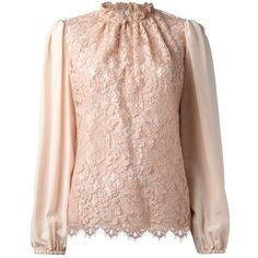 DOLCE GABBANA lace blouse (1.915 BRL) ❤ liked on Polyvore featuring tops, blouses, shirts, pink lace blouse, lace blouse, shirt top, pink top and dolce gabbana blouse