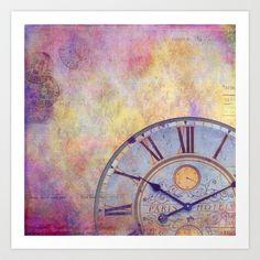 Rendezvous à Paris Art Print by  VIAINA - $19.00