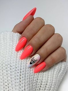 #pink_with_a_little_orange #nude #nails