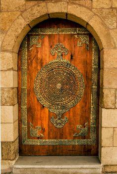 Puerta de la ciudadela de Salah ElDin en el Cairo, Egipto