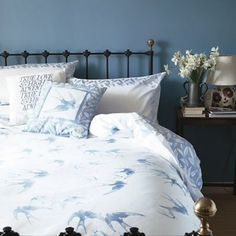 Emma Bridgewater Light blue 'Swallows' bed linen- | Debenhams