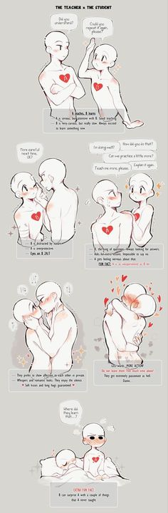 Ship dynamics – The teacher x The student by Darklephise on Ship dynamics – The teacher x The student by Darklephise on , Drawing Tutorials and co. Ship dynamics – The teacher. Drawing Techniques, Drawing Tips, Drawing Sketches, Poses References, Drawing Expressions, Art Base, Drawing Reference Poses, Drawing Base, Drawing Challenge