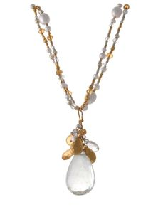 Image of Beaded Necklace with Bundle Pendant