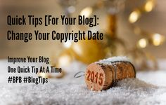 How to Change Your Copyright Date on WordPress Blog Footer