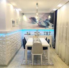 Mimar çiftin kendi tasarladıkları, kullanışlı ve şık evleri.. | Ev Gezmesi Dining Table, Doors, Living Room, Instagram Posts, House, Furniture, Salons, Modern, Organize