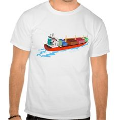 container ship retro t shirts