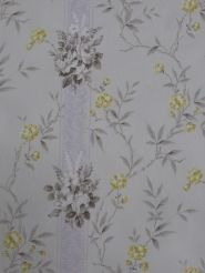 gele en grijze bloemen Retro Wallpaper, Modern Wallpaper, Clock, Colours, Pillows, Cool Stuff, Prints, Vintage, Home Decor