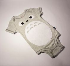 Totoro Inspired One Piece Baby Outfit by GyaBi on Etsy, $15.00 - could possibly try this as a screen print?  R and C would go bonkers for Totoro shirts =)