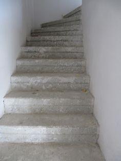 Betontreppe Gespachtelt Treppenbeschichtung Betonoptik Treppe Wie - Kellertreppe fliesen anleitung