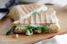 Asparagus Prosciutto Panini with Garlic Mayonnaise