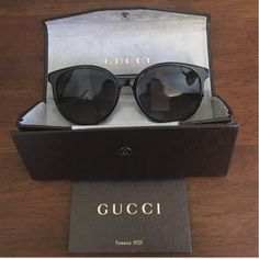 Brand New Retro Gucci Sunglasses These are beautiful retro style authentic Gucci sunglasses - style # 3722/S - and come in the original case with cleaning cloth and authenticity card. They are still in stores at the original price! Please ask me any questions and make reasonable offers through the offer button. Thanks! 😘 Gucci Accessories Sunglasses