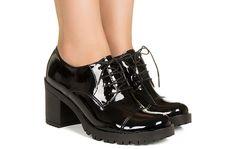 Sapato preto verniz com cadarço Taquilla - Taquilla - Loja online de sapatos femininos
