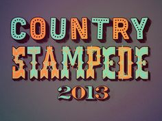 Country Stampede--Want to take the family to this...Maybe next year.