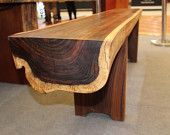Solid Wood Bench - carved straight from a whole piece of tropical log