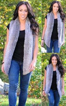 Kai Vest by Tart Collections - worn by Melissa Gorga from Real Housewives of New Jersey Casual Chic, Casual Wear, Melissa Gorga, Tart Collections, Cold Weather Fashion, Real Housewives, Celebs, Celebrities, Fall Winter Outfits