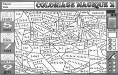 02 Tout pour les Maths CE1 BLOG GS CP CE1 CE2 de  - coloriage magique addition cp