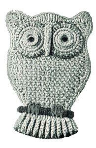 Owl Pocket Potholder | Free Crochet Patterns