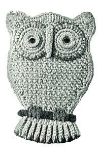 Free Crochet Pattern: Owl Pocket Potholder on Free Vintage Crochet