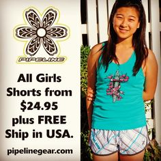 All Pipeline Clothes & Gear Juniors Short & Boardshorts $24.95 + FREE Standard Shipping in USA on all online orders with no minimum.